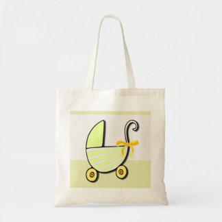 Bebê ou chá de fraldas bem-vindo bolsa tote