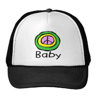 Bebê para a paz! bonés