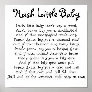 Bebê pequeno do Hush Pôster