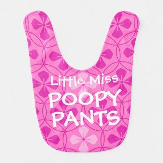 Bebé pequeno engraçado da senhorita Poopy Calça Babadores Infantis