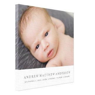Bebê puro impressão em tela