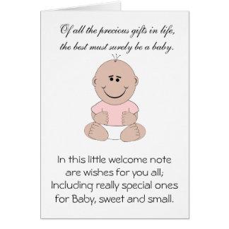 Bebé recém-nascido cartoes