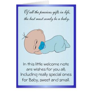 Bebé recém-nascido cartão