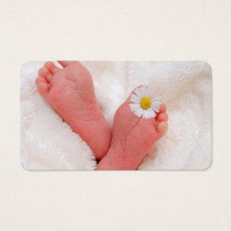 Bebê recém-nascido cartão de visitas