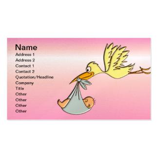 Bebé recém-nascido - uma entrega da cegonha do vôo cartão de visita