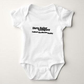 Bebê sujo do marinheiro body para bebê