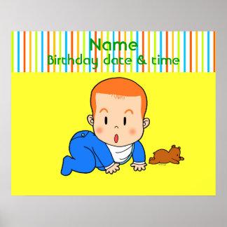 Bebê vermelho-de cabelo bonito pôster
