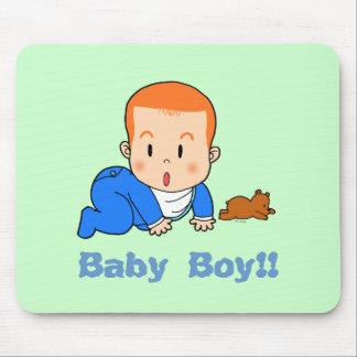 Bebê vermelho-de cabelo bonito mouse pads