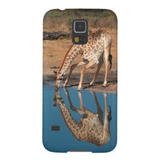 Bebendo do girafa (Giraffa Camelopardalis) Capas Par Galaxy S5