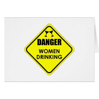 Beber das mulheres cartão