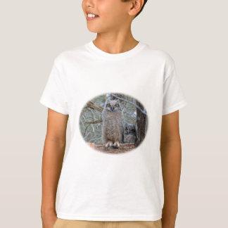 Bebês da coruja na cesta camiseta