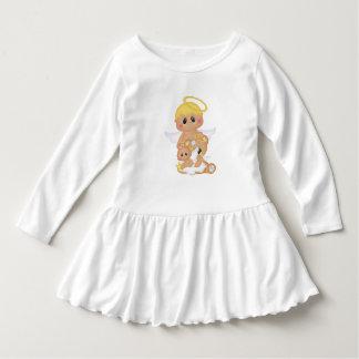 Bebês do querubim e do anjo do bebê do halo vestido