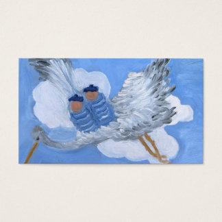 Bebés do vôo e cartão de visita da cegonha