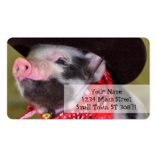 bebês dos animais de fazenda do leitão do bebê do cartão de visita