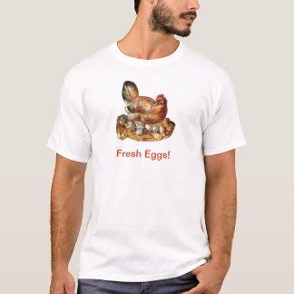 Bebês e ovos dos pintinhos da galinha camiseta