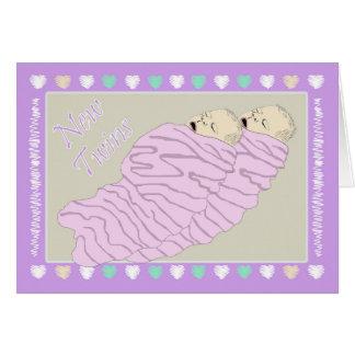 Bebés gêmeos cartão comemorativo