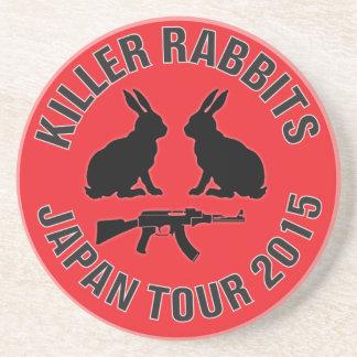Bebida com os coelhos do assassino porta copos de arenito