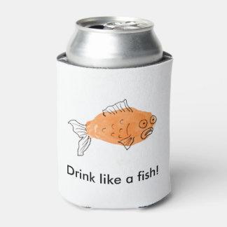 Bebida como um peixe! porta-lata