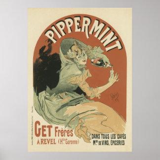 Bebida de Pippermint por Jules Chéret, 1899 Pôsteres