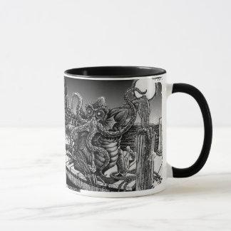 Bebida de R'lyeh do café profundamente uma caneca