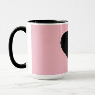 Bebida do favorito do chá do café do amor caneca