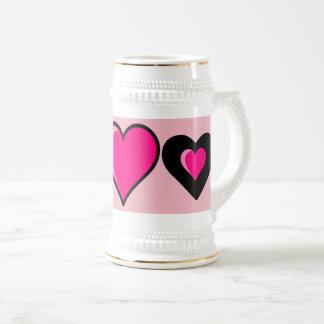 Bebida do favorito do chá do café do amor caneca de cerveja