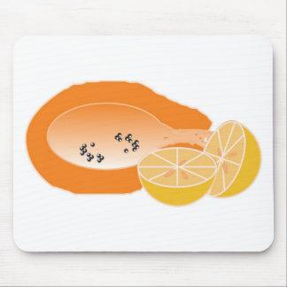 bebida do mamao e laranja fruta de fazer vitamina mouse pad