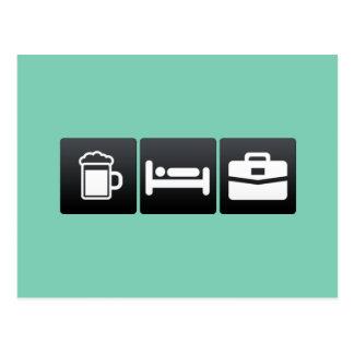 Bebida, sono e exemplo de Attach� Cartão Postal