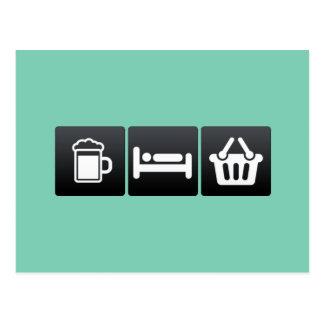 Bebida, sono e supermercados cartão postal