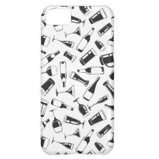 Bebidas e vidros pretos do teste padrão capa para iPhone 5C