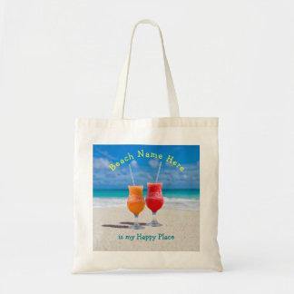 Bebidas no bolsa feliz personalizado praia do