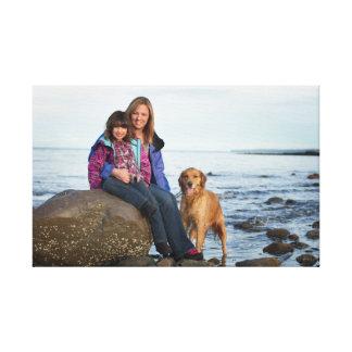 Beckie - família - cor impressão de canvas envolvidas