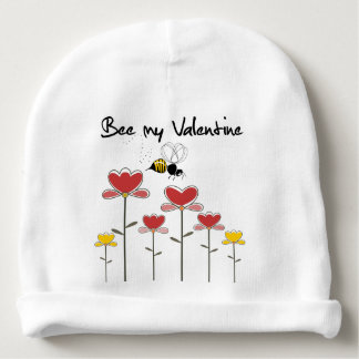 Bee my Valentine Little one! Gorro Para Bebê