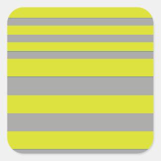Bee stripes clear adesivos quadrados