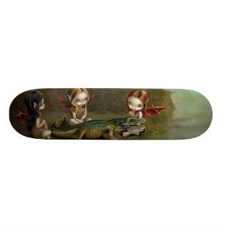 Befriending um skate feericamente gótico do jacaré