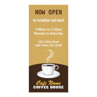 Bege da loja do menu do café do café e cartões da 10.16 x 22.86cm panfleto