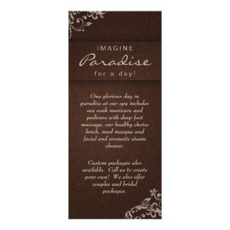 Bege de linho floral Brown dos termas do salão de  Modelos De Panfletos Informativos