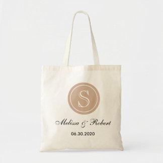 Bege Wedding personalizado da sacola   do Sacola Tote Budget