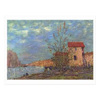 Bei Moret 1881Oil de Alfred Sisley - de Der Loing Cartões Postais
