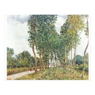 Bei Moret 1892 de Loing do der de Alfred Sisley -  Cartões Postais