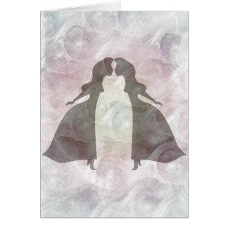 Beijando princesas cartao