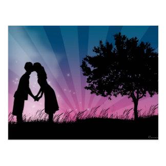 Beije-me Cartão Postal