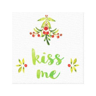Beije-me - decoração das canvas do Natal