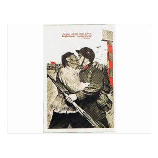 beije-me goodby cartão postal
