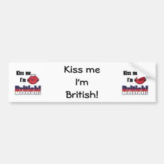 Beije-me que eu sou britânico adesivo