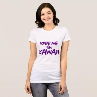 Beije-me que eu sou Kawaii - camisa
