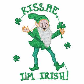 Beije-me que eu sou t-shirt bordado irlandês