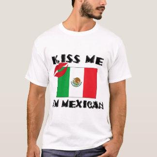 Beije-me que eu sou t-shirt mexicano camiseta