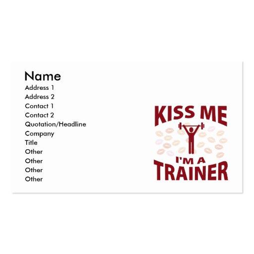 Beije-me que eu sou um instrutor cartoes de visita