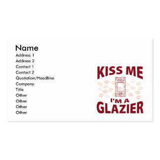Beije-me que eu sou um vidraceiro modelos cartoes de visitas